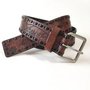 Wilson's Leather Embossed Genuine Leather Belt